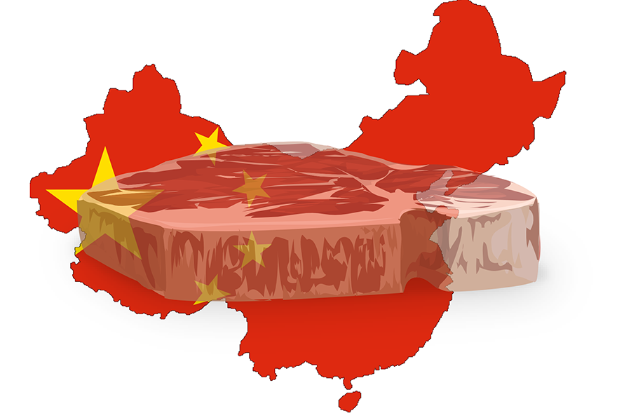 China grows its own meat